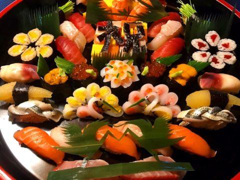 お祝い飾り細工寿司盛り込み